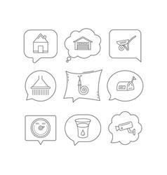 Real estate garage and heat regulator icons vector