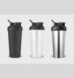 realistic 3d black white and silver empty vector image