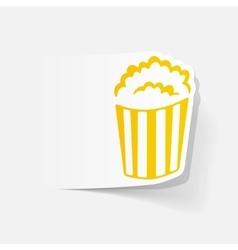 Realistic design element popcorn vector