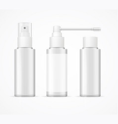 realistic detailed 3d white blank bottle spray vector image