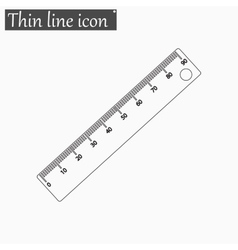 Ruler icon Style thin line vector