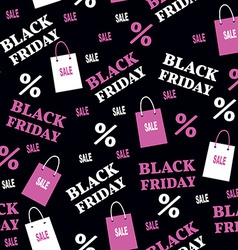 Seamless Pattern with Black Friday Sale Baclground vector image
