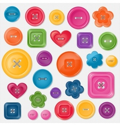 set colored buttons vector image