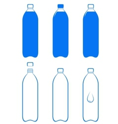 set of water bottle vector image