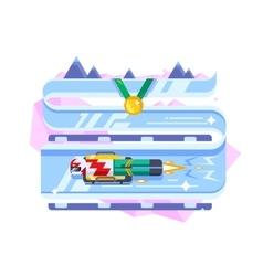 Skeleton winter sports vector