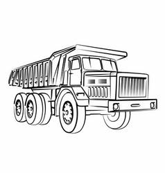 Sketch dump truck vector