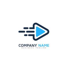 speed video logo icon design vector image