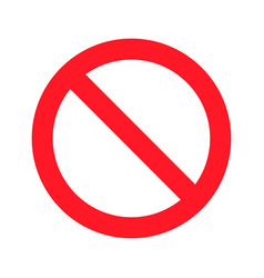stop sign on a white background flat design vector image