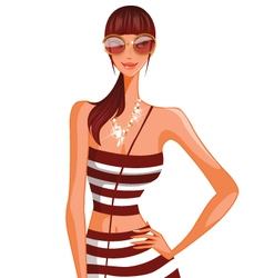 stylish woman vector image