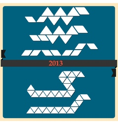 Stylized Snake symbol 2013 new year vector image