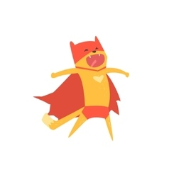 Super Hero Cat Shouting vector