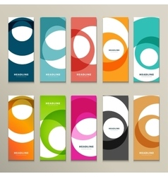 Ten pattern with abstract figures brochures vector image