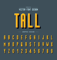 texture font and grunge alphabet tall type vector image