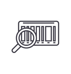 tracking code linear icon sign symbol on vector image