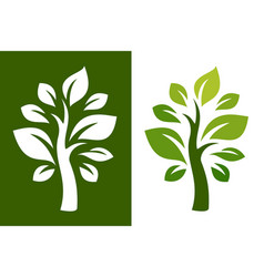 tree logo 23 vector image