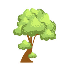 Tree with lush green foliage element a vector