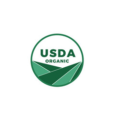 Usda organic certified stamp symbol no gmo vector