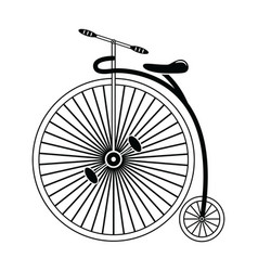 Vintage bike type 2 in black and white vector