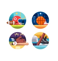 Colored icons popular sports vector image vector image