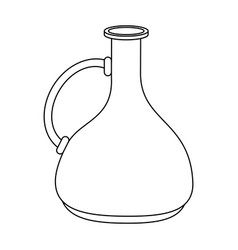 old jug isolated vector image