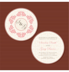 round invitation vector image vector image