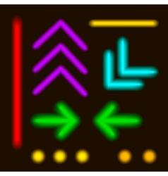 - Laser Neon Colorful Lines and elements vector image