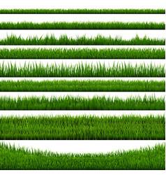 grass border collection vector image vector image