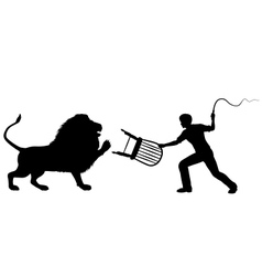 Lion tamer vector image vector image