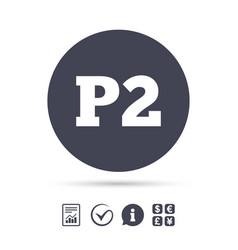 Parking second floor icon car parking p2 symbol vector