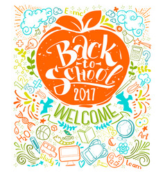 vertical back to school poster vector image vector image