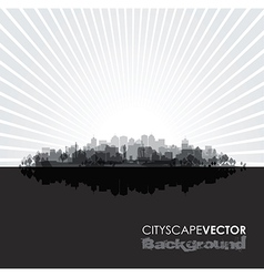 black cityscape vector image