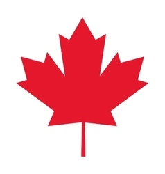 canada flag maple leaf icon vector image vector image