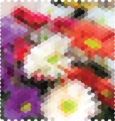 Mosaic background flowers vector image vector image