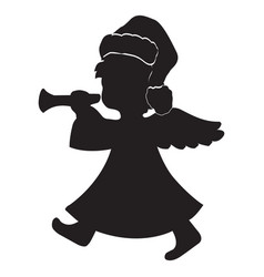 image of a silhouette of an angel vector image