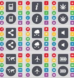 Mobile phone Information Marijuana Share Cloud vector image vector image