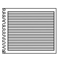 monochrome striped notebook sheet in blank vector image