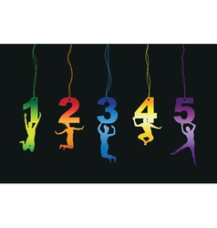 number jumper tag labels vector image vector image