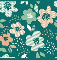 simple pale color floral decorative seamless vector image