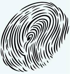 The imprint of a human finger vector image