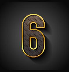 3d font with golden strip trendy condensed vector