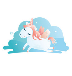a cute unicorn vector image