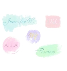 Abstract logo design templates Pastel hand vector image