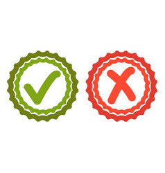 acceptance tick icon vector image