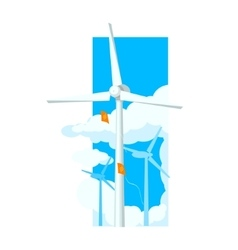 Alternative Energy Wind Farm vector