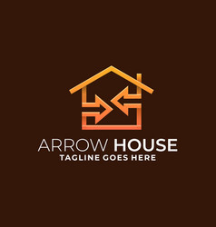 arrow house template vector image