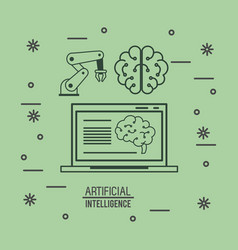 Artificial intelligence technology vector