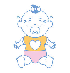 Baby clothes crying vector