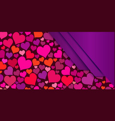 background with hearts for wedding or vector image