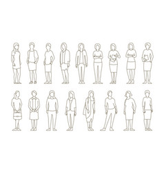 big set business womens lady management vector image