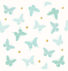 butterflies with glitter polka dots seamless vector image